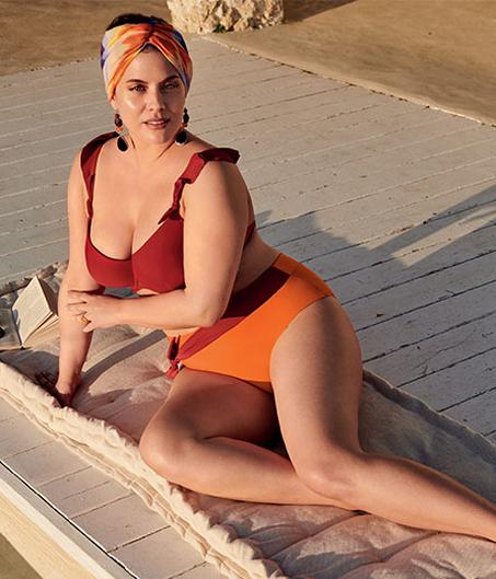 Damen mollige bademode für Große Größen: