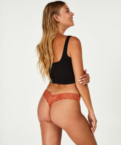 Invisible String Lace Back, Braun