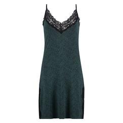 Jersey lace slipdress, grün