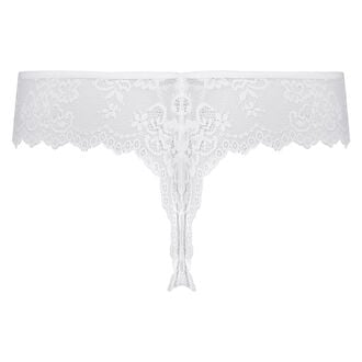 Invisible String Lace Back, Weiß