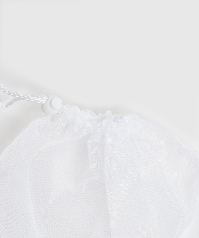 Waschbeutel Kordelverschluss, Weiß, main