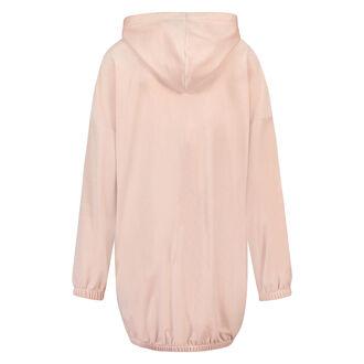Bademantel-Kleid aus Velours, Rose