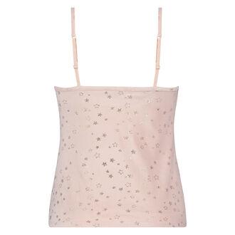Cami-Kleid aus Velours mit Sternen - Pink Ribbon, Rose