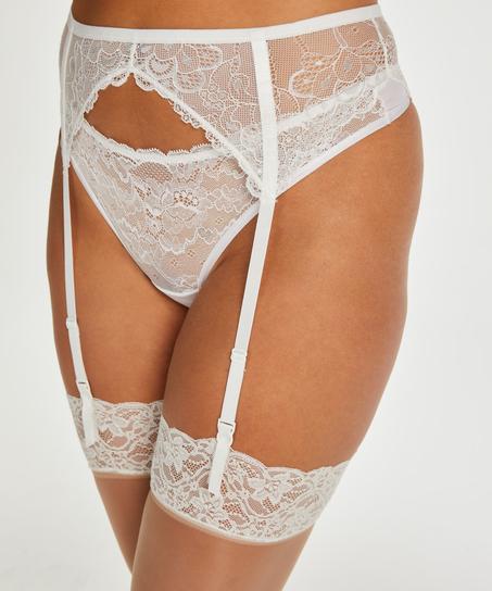 2 Paar Stockings 15 Denier Lace, Beige