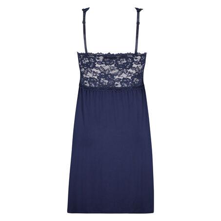 Slipdress Modal Lace mit Spitze, Blau