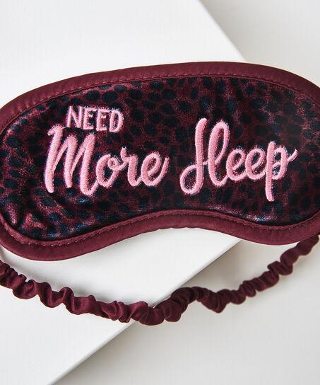 Schlafmaske Need more sleep, Rot