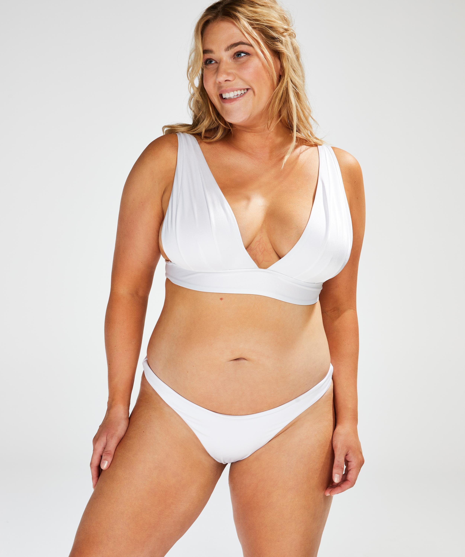 Bikinihöschen Lola mit hohem Beinausschnitt, Weiß, main