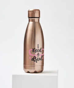 """Thermosflasche """"I need a drink"""", Rose"""