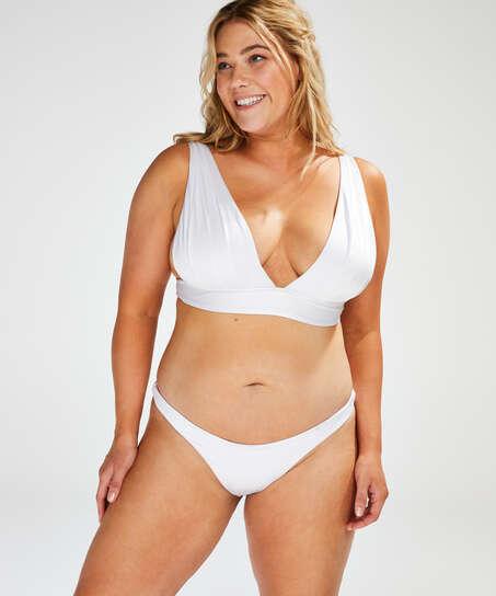 Triangel-Bikini-Oberteil Lola, Weiß