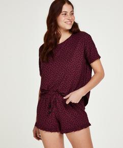 Kurzes Pyjamaset, Rot