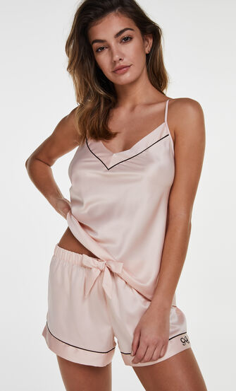 Pyjamashorts Satin Lace, Rose