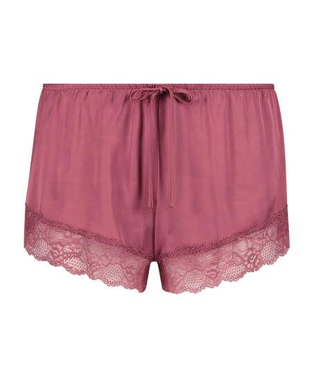 Pyjama-Shorts Satin, Rot