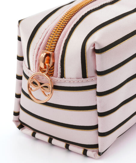 Make-up-Tasche Stripe, Rose