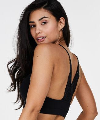 Bralette Marina lace back, Schwarz