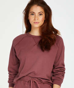Top langärmlig Sweat French, Rose