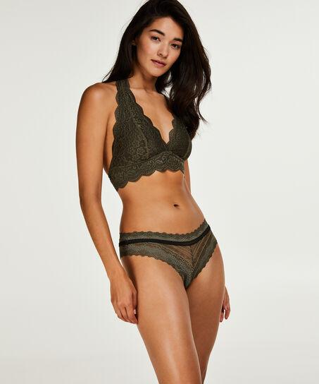 Bralette Halter Lace, grün