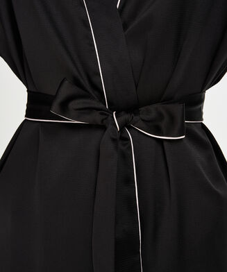 Kimono Satin, Schwarz