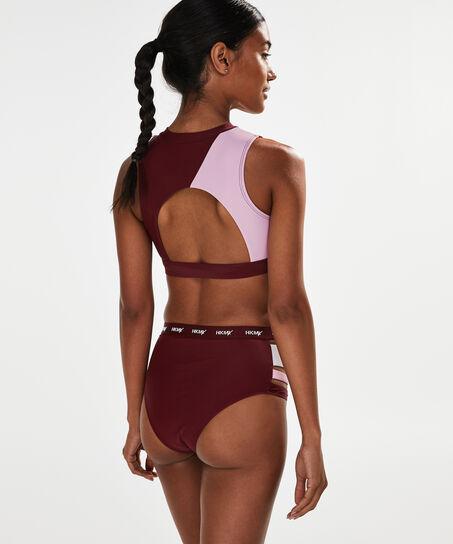 HKMX Hoher Cheeky-Bikinislip, Rot