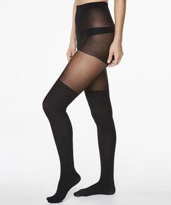 Panty Overknee Sock, Schwarz