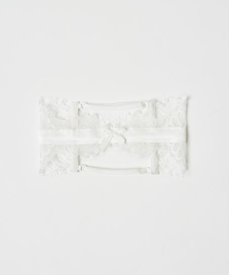 Strumpfband Noir, Weiß