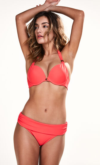 Vorgeformtes Push-up-Bikinitop Sunset Dream, Rot