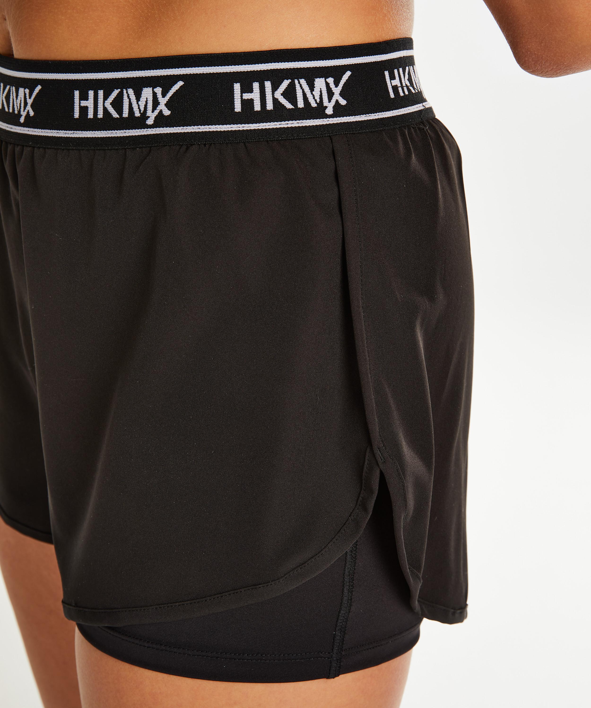Tights in 2 Größen Shorts Schwarz kurze Sporthose Hunkemöller Sportswear