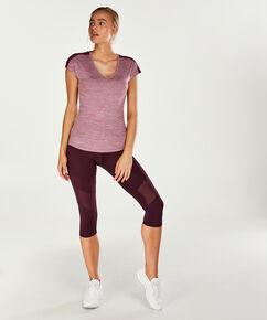 HKMX Kurzarm-Sportshirt Slim Fit, Lila