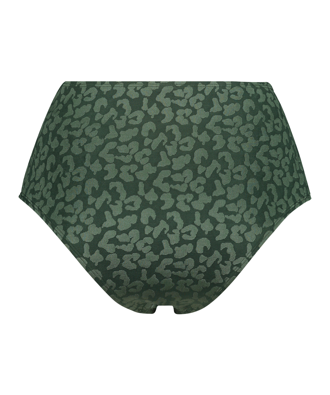 Hohe Bikini-Hose Tonal Leo, grün, main