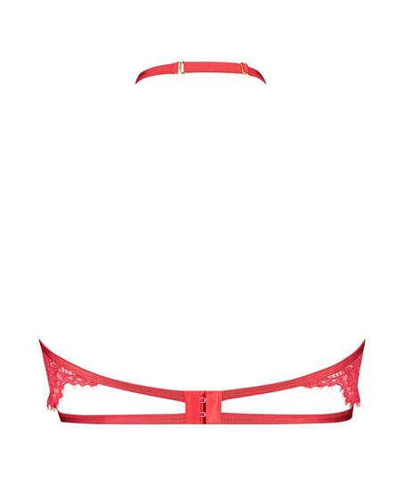 Unwattierter Halterneck-Bügel-BH Eve, Rot