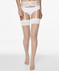 2 Paar Stockings 15 Denier Lace, Teint