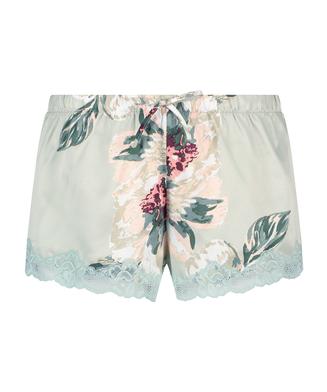 Pyjama-Shorts Satin, Blau