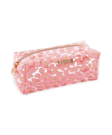 Make-up-Tasche Leopard, Rose