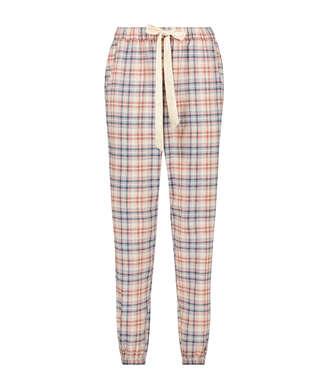 Pyjamahose Check, Beige