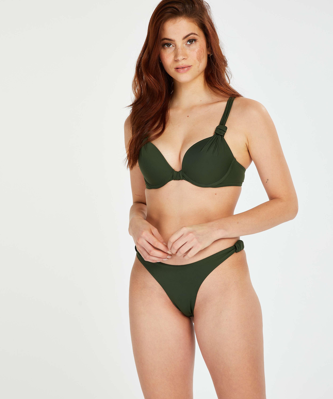 Bikini-Slip mit hohem Beinausschnitt Luxe, grün, main