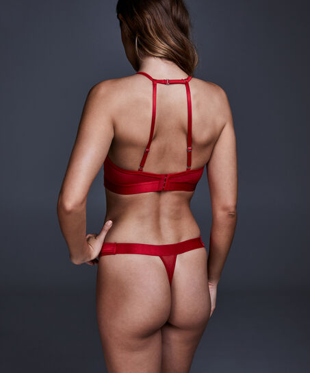 Unwattierter Bügel-BH Tomei, Rot