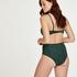 Hohe Bikini-Hose Tonal Leo, grün