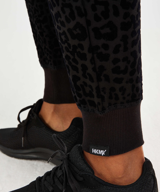 HKMX Jogginghose Leopard, Schwarz, main