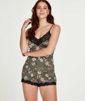 Pyjamaset Flower Words, grün