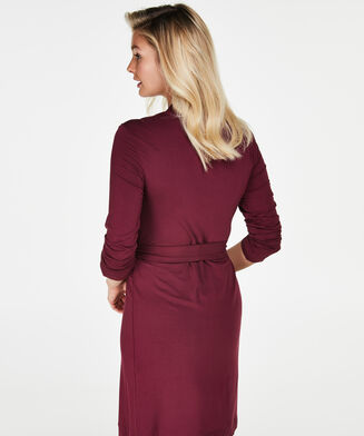 Bademantel Modal Lace, Rot