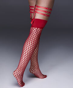Stay-ups Fishnet Private Big Sexy, Rot