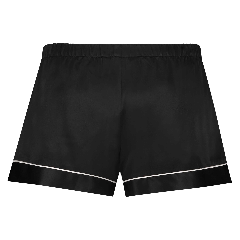 Pyjamashorts Satin Lace, Schwarz, main