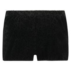 Shorts Velours, Schwarz