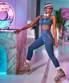HKMX Sportlegging Naira mit hoher Taille, Blau