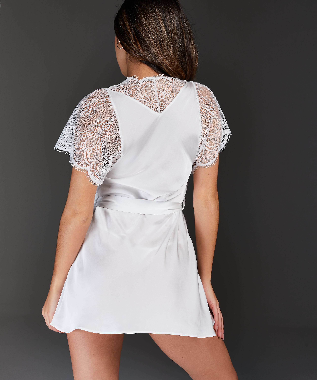 Kimono Cap Sleeve, Weiß, main