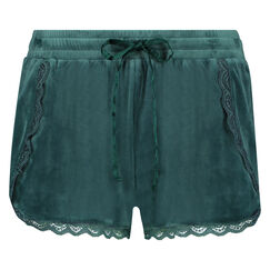 Shorts Velours Lace, grün