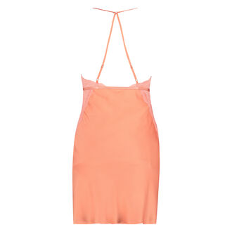 Slipdress Lace Satin, Orange