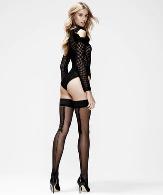 Stay-ups 20 denier Pretty Lace, Schwarz