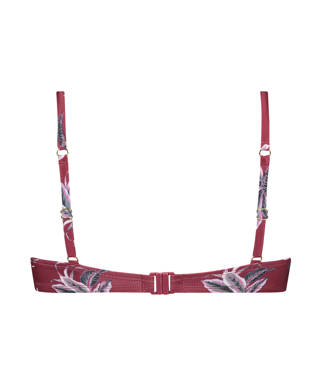 Vorgeformtes Bügel-Bikinitop Tropic Glam, Rot, main