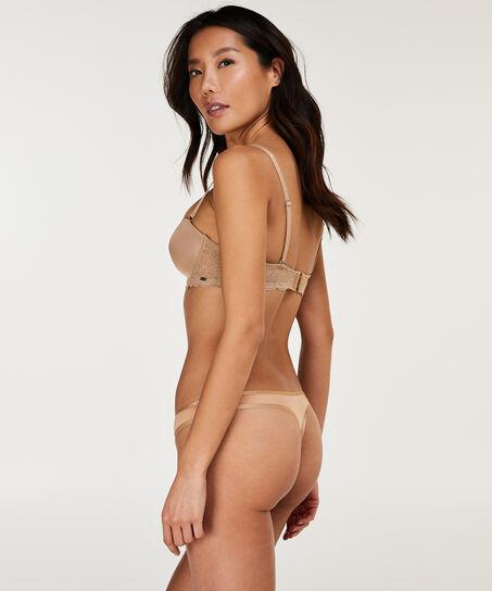 Vorgeformter Bügel-BH Angie Nude, strapless, Teint