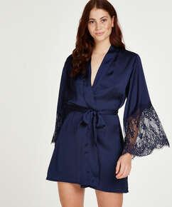 Kimono Satin, Blau